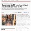 Governador sanciona lei que prevê multa por trote na PM