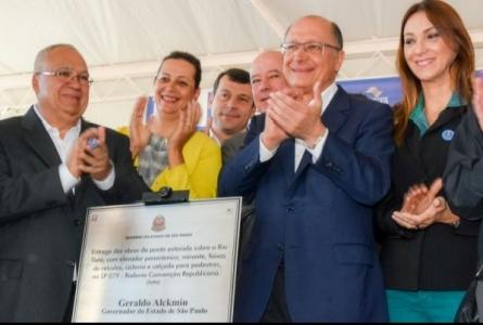 Rita Passos participa de inauguração da ponte estaiada em Salto