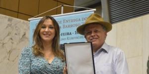 Bob Vieira recebe homenagem de Rita Passos na Assembleia Legislativa de São Paulo
